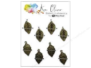 scrapbooking & paper crafts: Maya Road Products Ken Oliver Vintage Charms Leaf