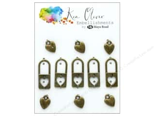 Maya Road Products Ken Oliver Vintage Charms Lock My Heart