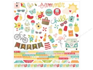 summer splash: Simple Stories Collection Summer Days Sticker Combo  12 in. x 12 in. (12 pieces)