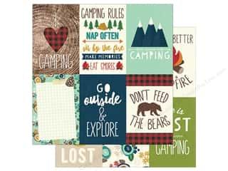 Simple Stories: Simple Stories Collection Cabin Fever Paper  12 in. x 12 in. Elements Vertical 4 in. x 6 in. (25 pieces)