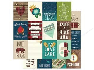 Simple Stories Collection Cabin Fever Paper  12 in. x 12 in. Journaling Card Elements 3 in. x 4 in. (25 pieces)