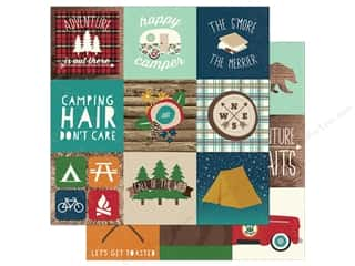 Simple Stories Collection Cabin Fever Paper  12 in. x 12 in. Elements 4 in. x 4 in. (25 pieces)
