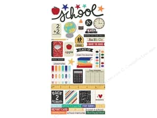 Simple Stories: Simple Stories Collection Old School Sticker 6 in. x 12 in. (12 pieces)
