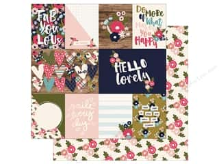 Simple Stories Collection Hello Lovely Paper  12 in. x 12 in.  Journaling Card Elements 3 in.x 4 in. & 4 in.x 6 in. (25 pieces)
