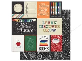 Simple Stories Collection Old School Paper  12 in. x 12 in. Journaling Card Elements 3 in. x 4 in.  & 4 in. x 6 in. (25 pieces)