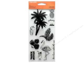 "stamp cleaned: Fiskars Stamp Clear Tropical Gateway 4""x 8"""