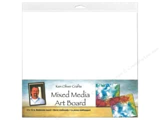 scrapbooking & paper crafts: Contact Crafts Ken Oliver Mixed Media Art Board 12 in. x 12 in.
