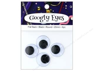 craft & hobbies: PA Essentials Googly Eyes 13/16 in. Round 4 pc. Black