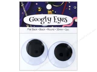 PA Essentials Googly Eyes 1 1/2 in. Round 2 pc. Black