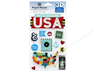 Paper House Sticker 3D Discover USA