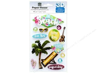 Paper House Sticker 3D The Beach