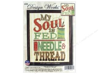yarn & needlework: Design Works Counted Cross Stitch Kit 9 x 12 in. Needle & Thread