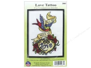 "yarn & needlework: Design Works Cross Stitch Kit 5""x 7"" Love Tattoo"