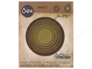 Clearance: Sizzix Tim Holtz Framelits Die Set 6 pc. Stitched Circles
