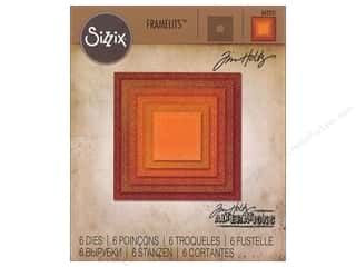 Sizzix Tim Holtz Framelits Die Set 6 pc. Stitched Square