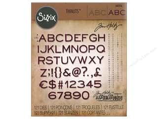 Sizzix Tim Holtz Thinlits Die Set 121 pc. Thin Alphanumeric