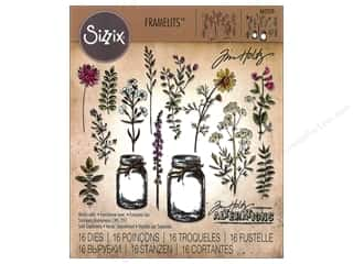 Sizzix Tim Holtz Framelits Die Set 16 pc. Flower Jar