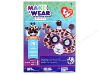 Darice Kit Beanie Boo Make & Wear Mask Safari Giraffe