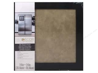 craft & hobbies: Darice Dry Erase Board 14 x 14 in. Black & Taupe