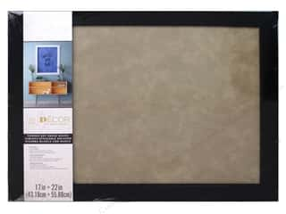 craft & hobbies: Darice Dry Erase Board 17 x 22 in. Black & Taupe