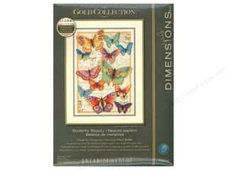 "Dimensions Cross Stitch Kit 10""x 14"" Butterfly Beauty Picture"