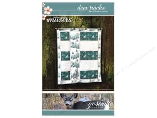 Clearance: Mckay Manor Musers Deer Tracks Block Blanket Pattern