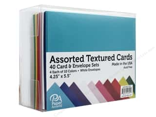 "Paper Accents Card & Envelopes 4.25""x 5.5"" 40pc Textured Assorted"