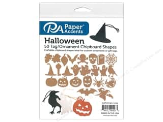 Chipboard: Paper Accents Chip Shape 50pc Ornaments Assorted Halloween