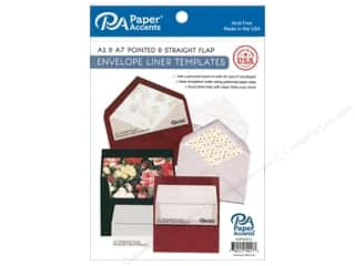 Paper Accents Accessories Envelope Liner Templates 4 pc A2 & A7