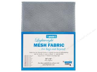"sewing & quilting: By Annie Mesh Fabric Lightweight 18""x 54"" Pewter"