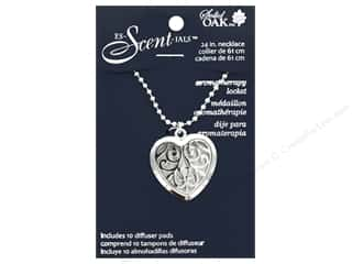 beading & jewelry making supplies: Solid Oak Locket Es-Scent-ials Heart Swirls