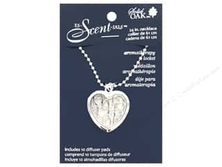 beading & jewelry making supplies: Solid Oak Locket Es-Scent-ials Heart Small Hearts