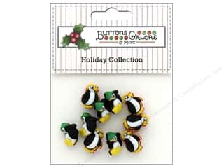 Clearance: Buttons Galore Theme Button Holiday Little Penguins
