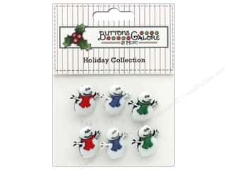novelties: Buttons Galore Theme Button Holiday Snowmen