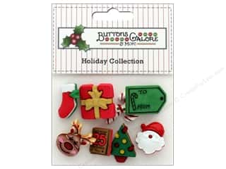 Clearance: Buttons Galore Theme Button Holiday December 25