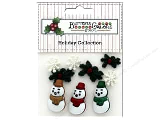 Clearance: Buttons Galore Theme Button Holiday Tis The Season