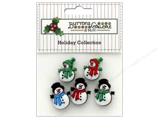 novelties: Buttons Galore Theme Button Holiday Jolly Snowmen