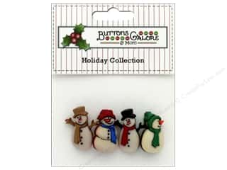 novelties: Buttons Galore Theme Button Holiday Old Fashion Snowman