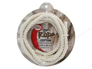 "craft & hobbies: Pepperell Craft Rope Cotton 3/8"" 8ft"