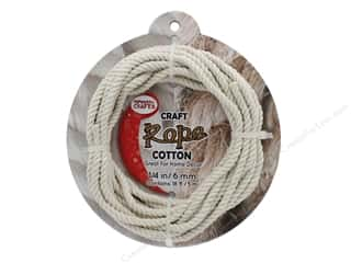 "craft & hobbies: Pepperell Craft Rope Cotton 1/4"" 18ft"