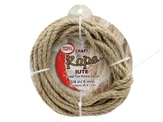 "Pepperell Craft Rope Jute 1/4"" 25ft"