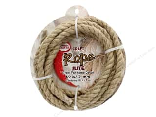 "craft & hobbies: Pepperell Craft Rope Jute 1/2"" 10ft"