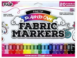 craft & hobbies: Tulip Fabric Marker Fine Tip Rainbow 20pc