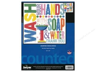 "yarn & needlework: Janlynn Cross Stitch Kit 10""x 10"" Wash Your Hands"