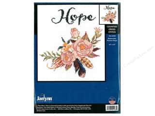 "Janlynn Cross Stitch Kit 10""x 10"" Watercolor Flowers Hope"