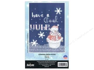 "yarn: Janlynn Cross Stitch Kit 5""x 7"" Cool Yule"