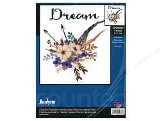"Janlynn Cross Stitch Kit 10""x 10"" Watercolor Flowers Dream"
