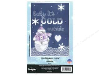 "Clearance: Janlynn Cross Stitch Kit 5""x 7"" Cold Outside"