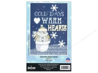 "Janlynn Cross Stitch Kit 5""x 7"" Warm Hearts"