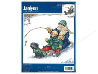 "yarn & needlework: Janlynn Cross Stitch Kit 12""x 12"" Winter Fun"